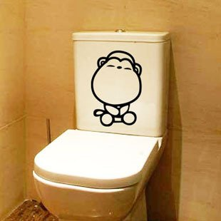 2pcs Monkey Wall Sticker Art Toilet Bathroom Vinyl Deco B3