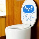 2pcs Bad Boy Pee Wall Sticker Art Toilet Bathroom Vinyl Deco
