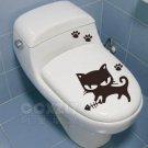 2pcs Cat Fish Wall Sticker Art Toilet Bathroom Vinyl Deco B2