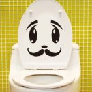 2pcs Whisker Face Wall Sticker Art Toilet Bathroom Vinyl Deco B5