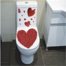 2pcs Love Wall Sticker Art Toilet Bathroom Vinyl Deco B7