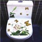 2pcs Butterfly Wall Sticker Art Toilet Bathroom Vinyl Deco B2
