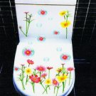 2pcs Flower Wall Sticker Art Toilet Bathroom Vinyl Deco B6
