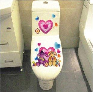 2pcs Love Wall Sticker Art Toilet Bathroom Vinyl Deco B4