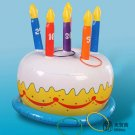 Inflatable Birthday Cake Summer Swimming Swim Toy