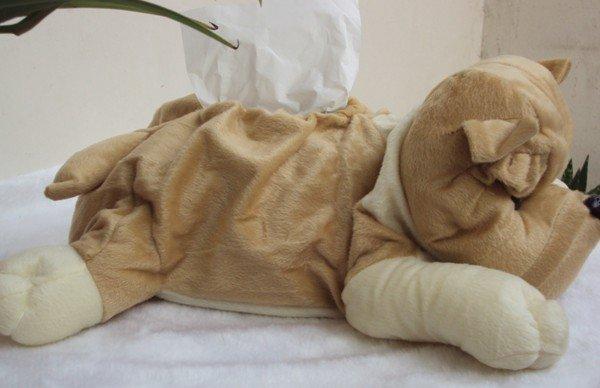 Multi Function Plush Dog Puppy Tissue Box Holder