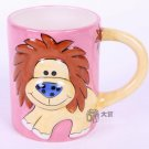 Hand Painted Cartoon Lion Animal Cup Mug Vase Skull Design