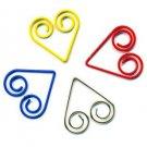 Lot of 200pcs Paper Clip ❤ Heart  ❤ Shaped heart/Bookmark B4