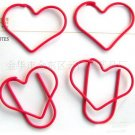 Lot of 200pcs Paper Clip ❤ Heart  ❤ Shaped heart/Bookmark