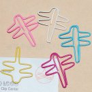 Lot of 200pcs Paper Clip Dragonfly Shaped / Bookmark office
