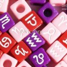 500g Assorted Acrylic Bead / Cube Beads Alphabet Constellation Charm 7mm jewelry accessory