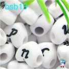 500g Assorted Acrylic Bead / Acrylic Heart Beads Alphabet ABC Letter Charm 10mm/ jewelry accessory