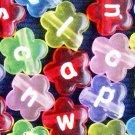 500g Acrylic Bead / Acrylic Flower Alphabet Charm 12mm/ jewelry accessory