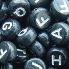 500g Black white Alphabet Acrylic Bead / Acrylic Alphabet 6mm/ jewelry accessory