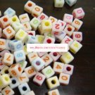 500g Acrylic Bead Number Beads 6mm/ jewelry accessory B2