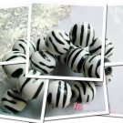 1000g Zebra Striped Stone Shaped Charm Beads 19mm