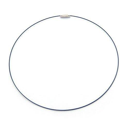 100pcs Black Memory Steel Necklace Choker Cord Wire Diameter 13cm