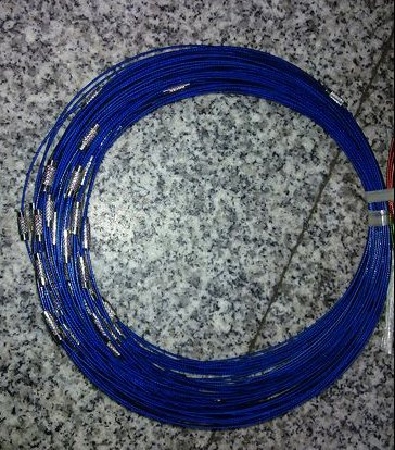 100pcs Blue Memory Steel Necklace Choker Cord Wire Diameter 13cm