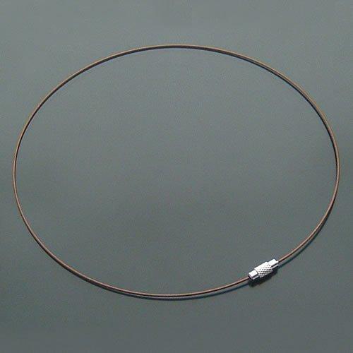 100pcs Brown Memory Steel Necklace Choker Cord Wire Diameter 13cm