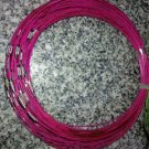100pcs Fuschia Memory Steel Necklace Choker Cord Wire Diameter 13cm