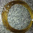 100pcs Yellow Memory Steel Necklace Choker Cord Wire Diameter 13cm