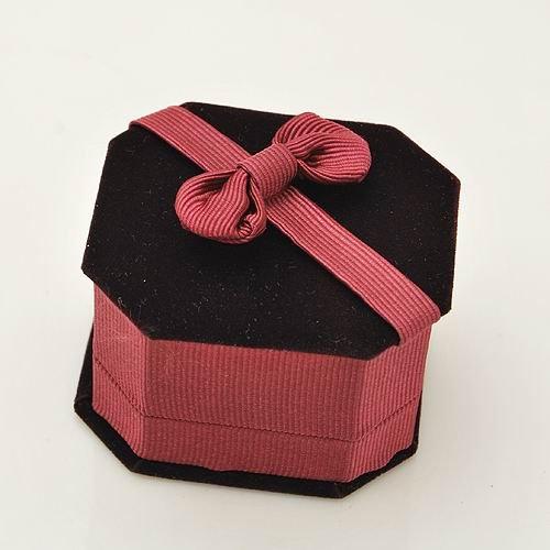 10pcs Jewelry Display Velvet Ring Stud Box Gift Box Case BOW Red