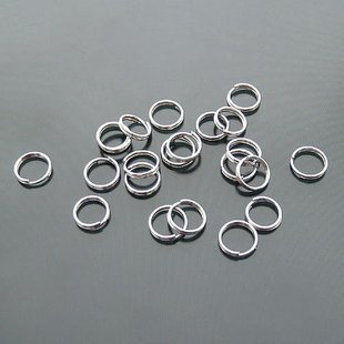 Lot of 500g Double Jump Ring 7mm Finding Accessory silver plated