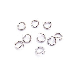 Lot of 2280pcs Jump Ring Split Open 7 x 1mm Finding Accessory Rhodium Plated
