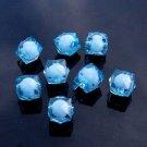500g Acrylic Square Bead White Core Inside Dye / Craft  Jewelry accessory Lantern Sky Blue