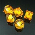 500g Acrylic Corner Bead White Core Inside Dye / Craft  Jewelry accessory Lantern Orange