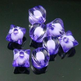 500g Acrylic Corner Bead White Core Inside Dye / Craft  Jewelry accessory Lantern Purple