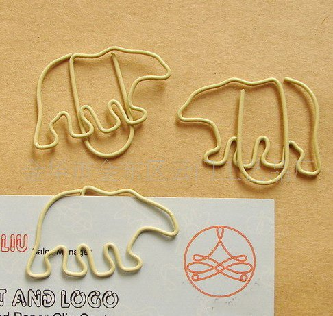 Lot of 200pcs Paper Clip Polar Bear Shaped / Bookmark office