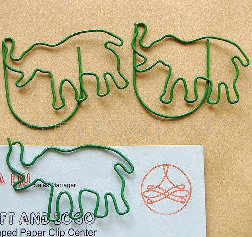 Lot of 200pcs Paper Clip Elephant Shaped / Bookmark office A1