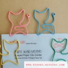 Lot of 200pcs Paper Clip Cat Shaped / Bookmark office