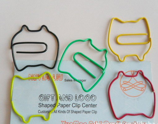 Lot of 200pcs Paper Clip Owl Shaped / Bookmark office