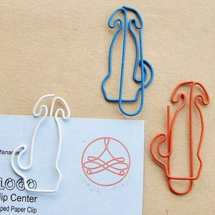 Lot of 200pcs Paper Clip Dog Shaped / Bookmark office