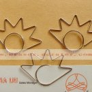 Lot of 200pcs Paper Clip Eye eyelash Shaped / Bookmark office