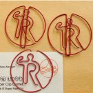 Lot of 200pcs Paper Clip R Alphabet  Trademark ® Shaped / Bookmark office