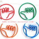 Lot of 200pcs Paper Clip Hand Shaped / Bookmark office B3