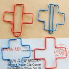 Lot of 200pcs Paper Clip Cross Shaped / Bookmark office B2