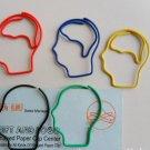 Lot of 200pcs Paper Clip Brain Head Shaped / Bookmark office