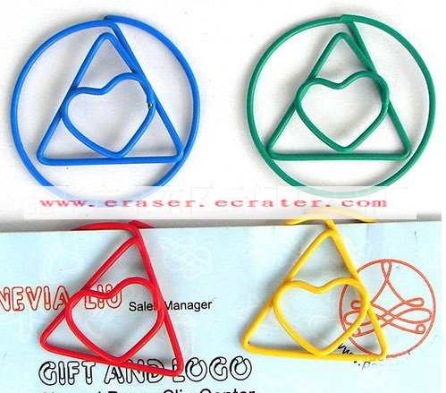 Lot of 200pcs Paper Clip Triangle Heart Shaped / Bookmark office B2