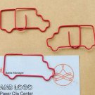 Lot of 200pcs Paper Clip Truck Shaped / Bookmark office B2