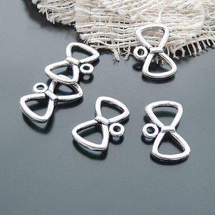 Lot of 500pcs mini 19 x 12mm Bow toy/jewelry bracelet alloy Charm