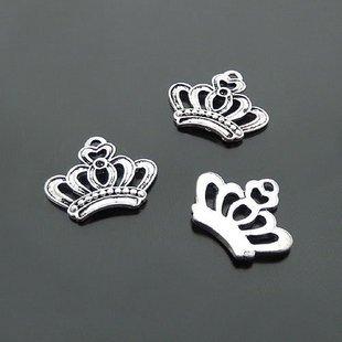 Lot of 400pcs Crown 22 x 16mm toy/jewelry bracelet metal alloy Charm