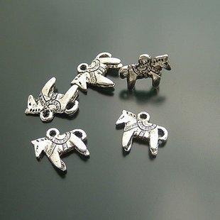 1000pcs Pandora Horse 13 x 12mm /jewelry bracelet metal alloy Charm