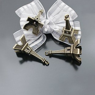 Lot of 100pcs mini Tower 47 x 22mm toy/jewelry bracelet metal alloy Charm CM874