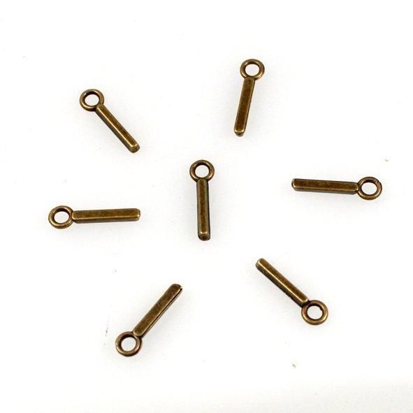 500pcs Alphabet I jewelry bracelet metal Charm Bead  16 X 6mm