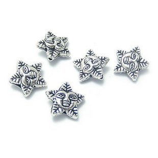 500pcs Sun jewelry bracelet metal Charm Bead  11 X 11mm