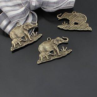 100pcs Elephant jewelry bracelet metal Charm Bead  38 X 25mm
